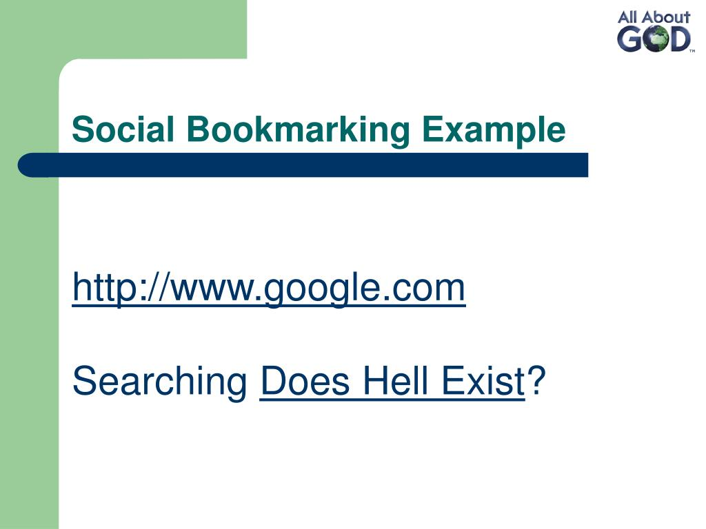 Social Bookmarking Example