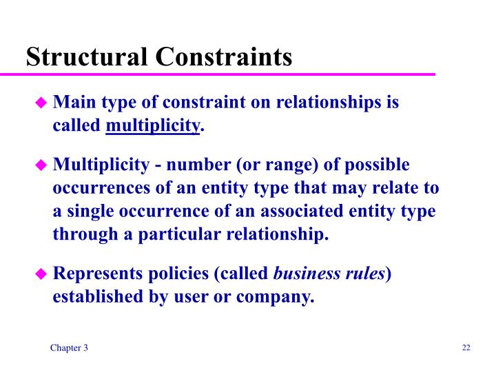 Structural Constraints