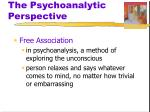 the psychoanalytic perspective2