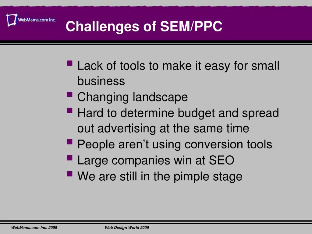 Challenges of SEM/PPC