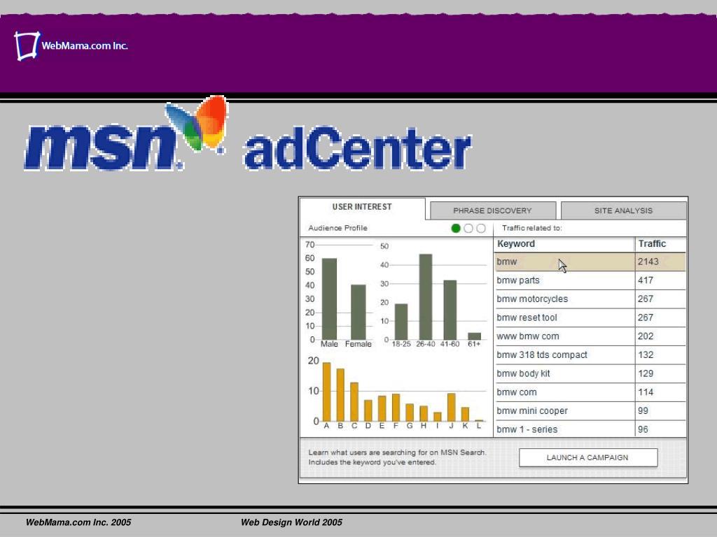 WebMama.com Inc. 2005Web Design World 2005