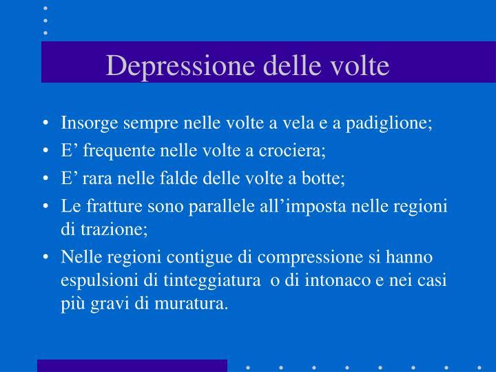Depressione delle volte