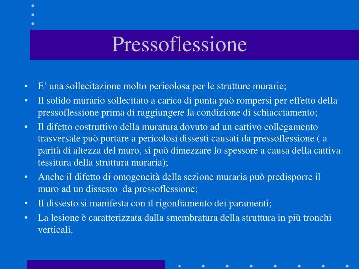 Pressoflessione