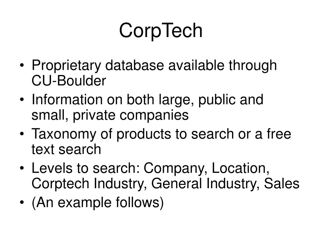 CorpTech