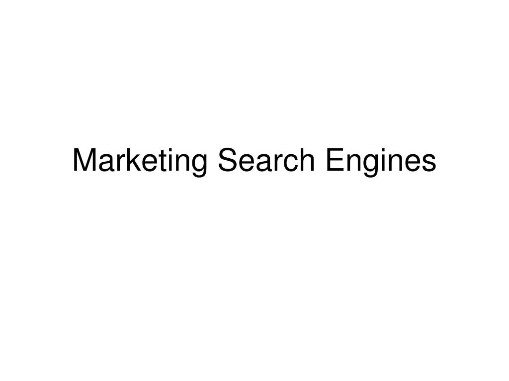 marketing search engines
