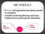 mic portals