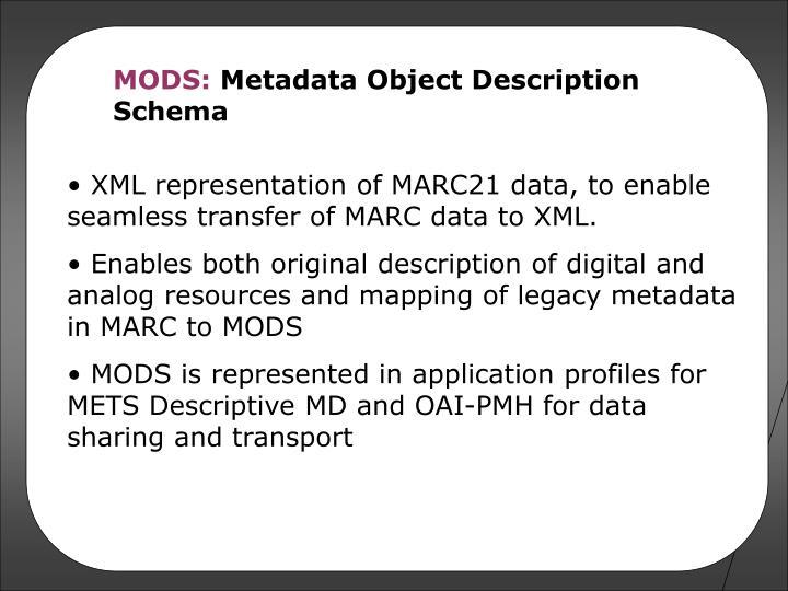 MODS: