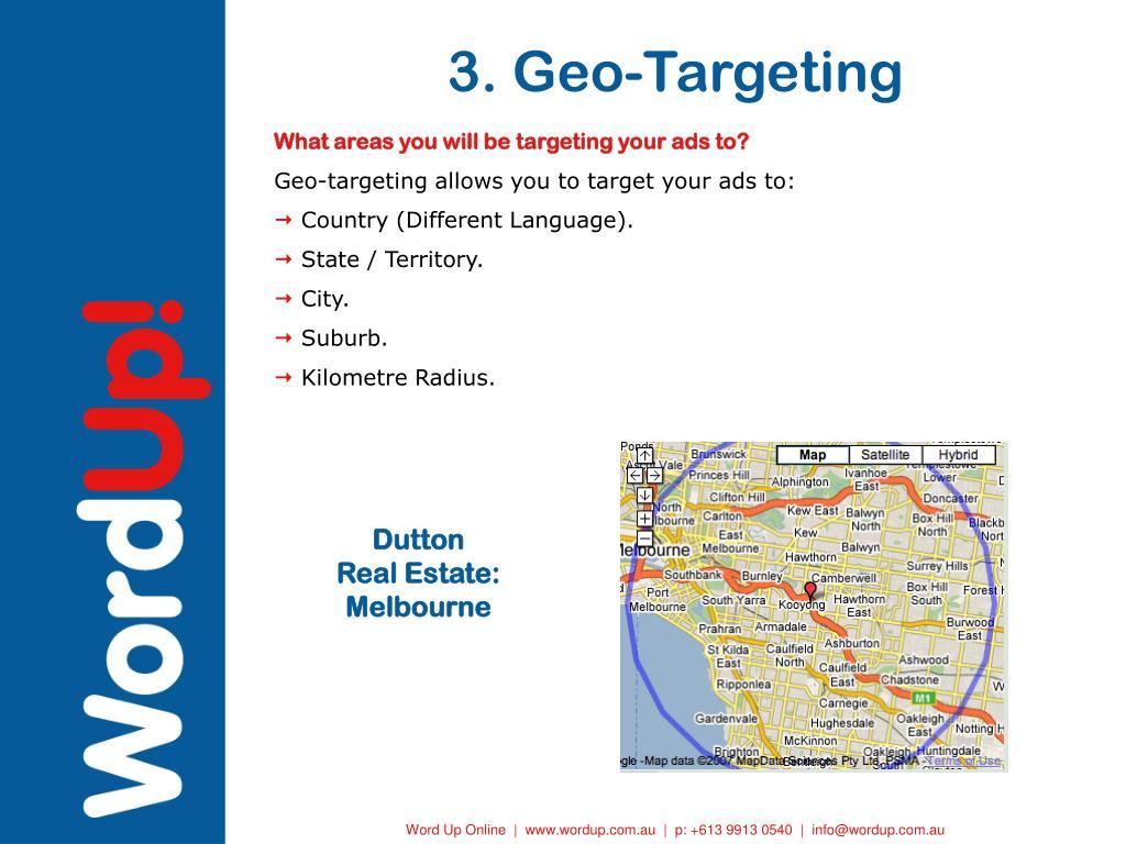 3. Geo-Targeting