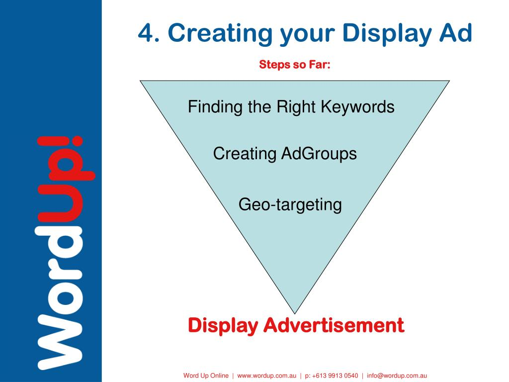 4. Creating your Display Ad