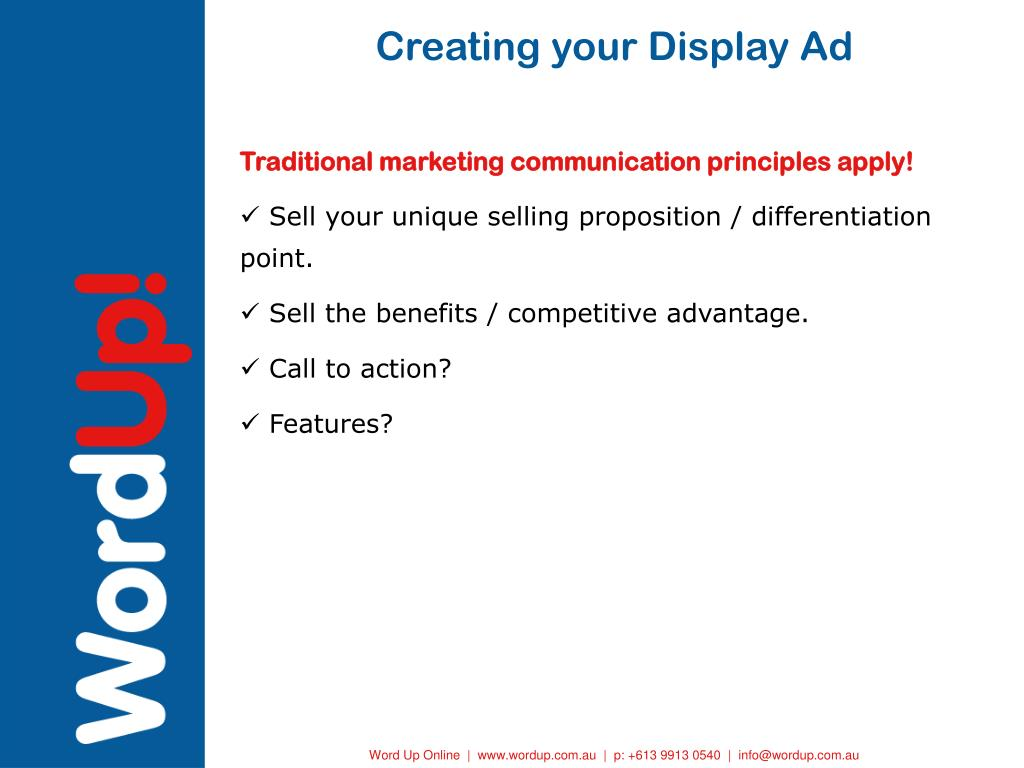 Creating your Display Ad