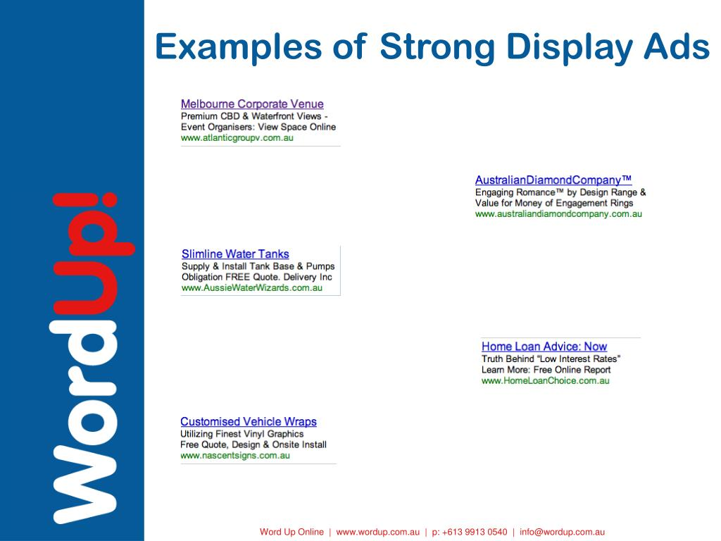 Examples of Strong Display Ads
