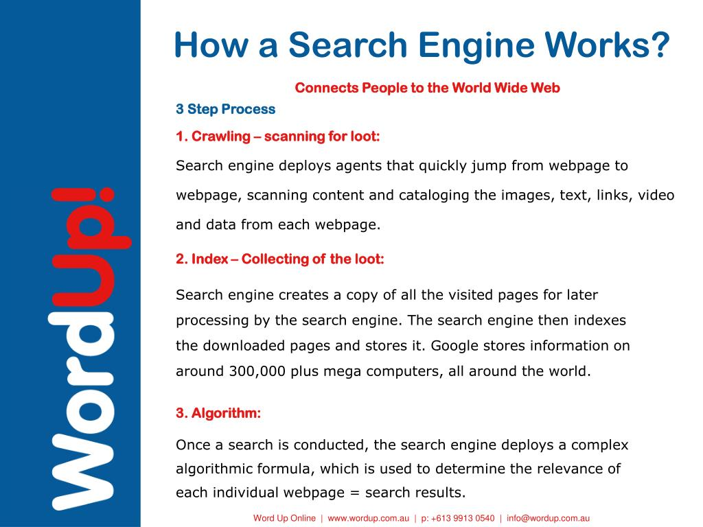 How a Search Engine Works?