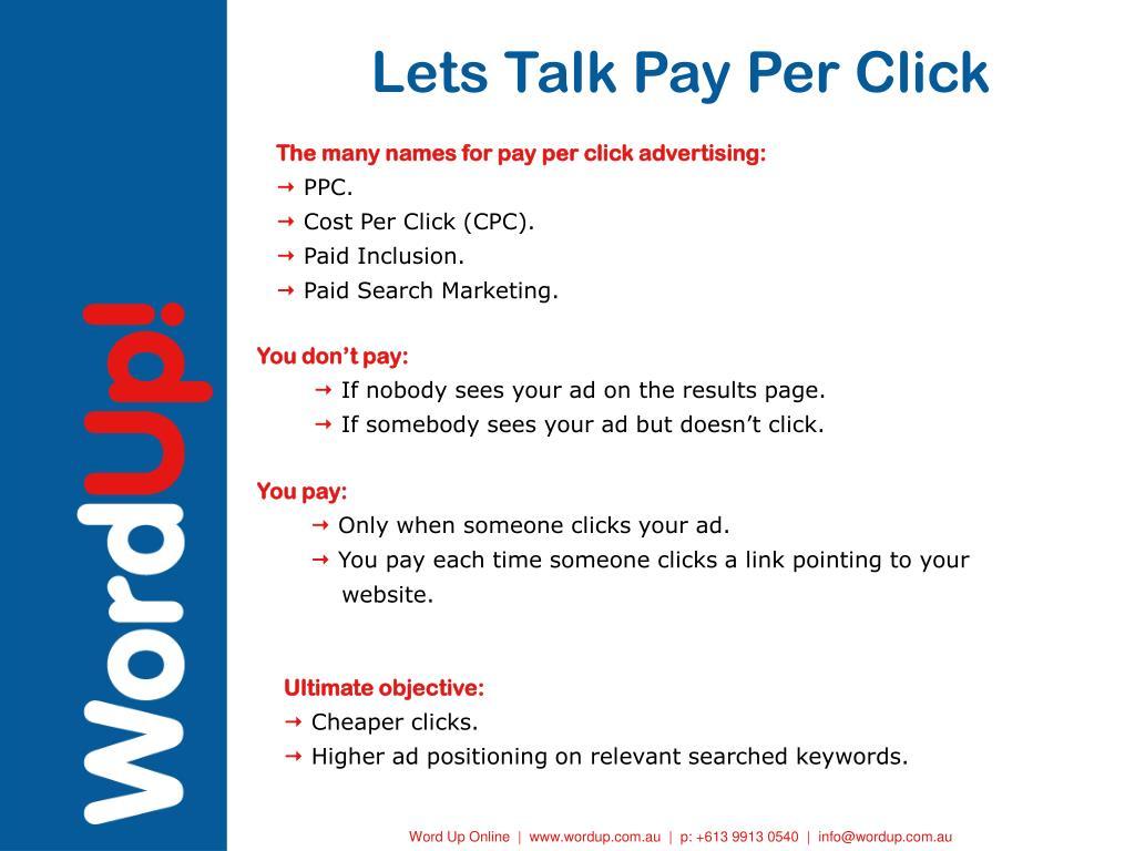 Lets Talk Pay Per Click