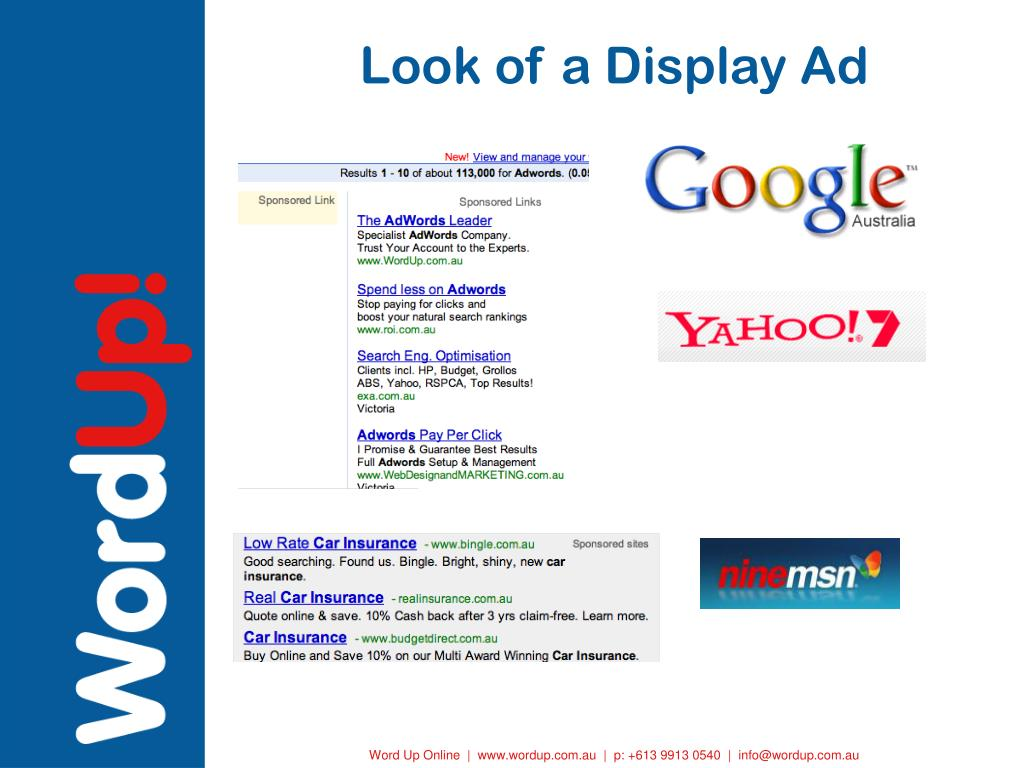 Look of a Display Ad