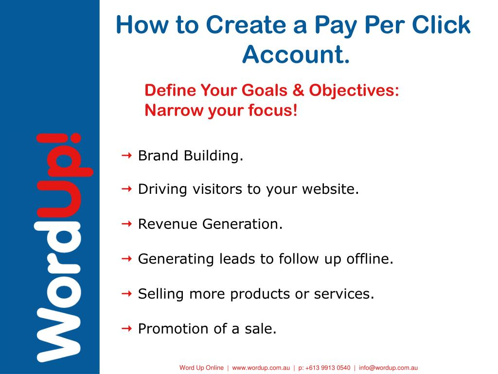 How to Create a Pay Per Click