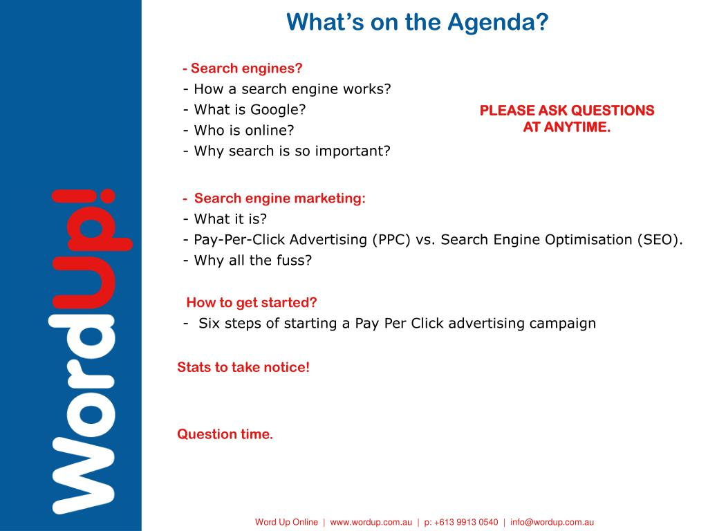 What's on the Agenda?