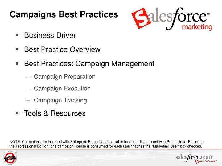 Campaigns best practices