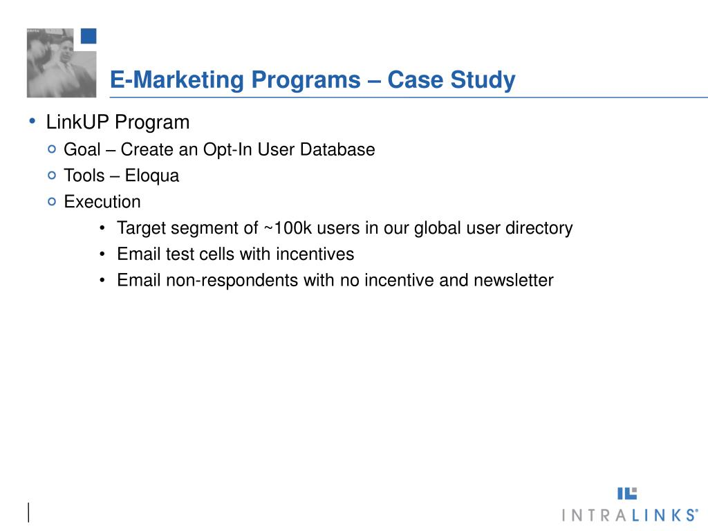 E-Marketing Programs – Case Study