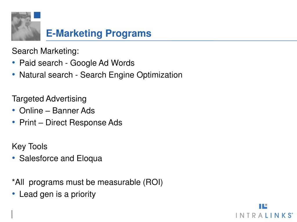 E-Marketing Programs