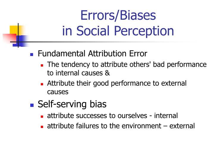 Errors/Biases