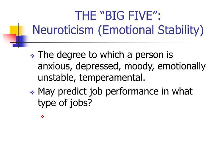 "THE ""BIG FIVE"":"