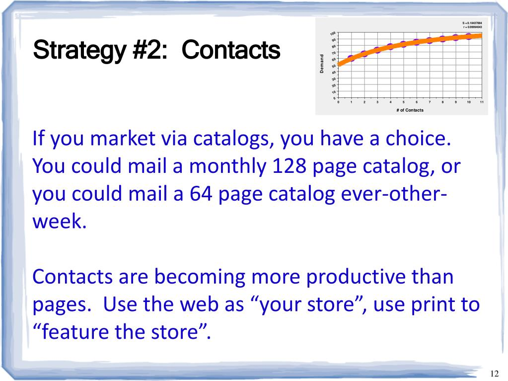 Strategy #2:  Contacts