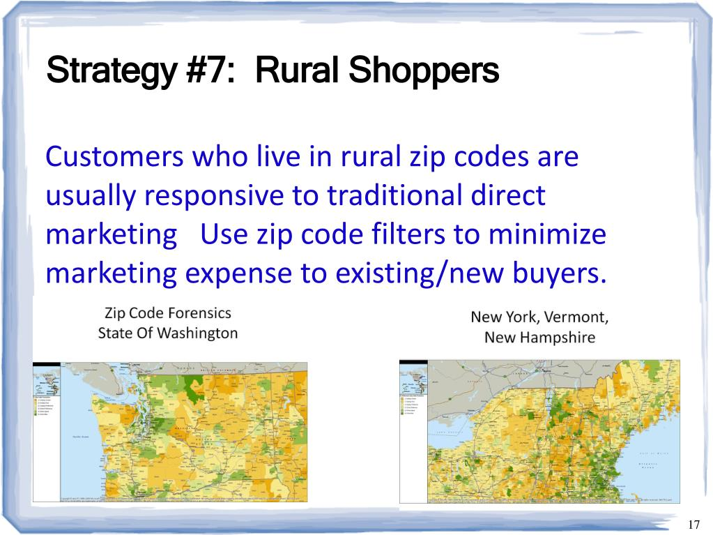 Strategy #7:  Rural Shoppers