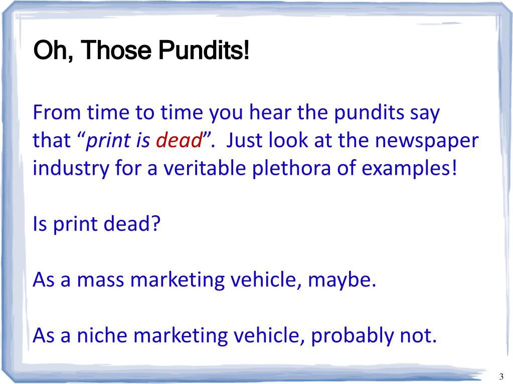 Oh, Those Pundits!