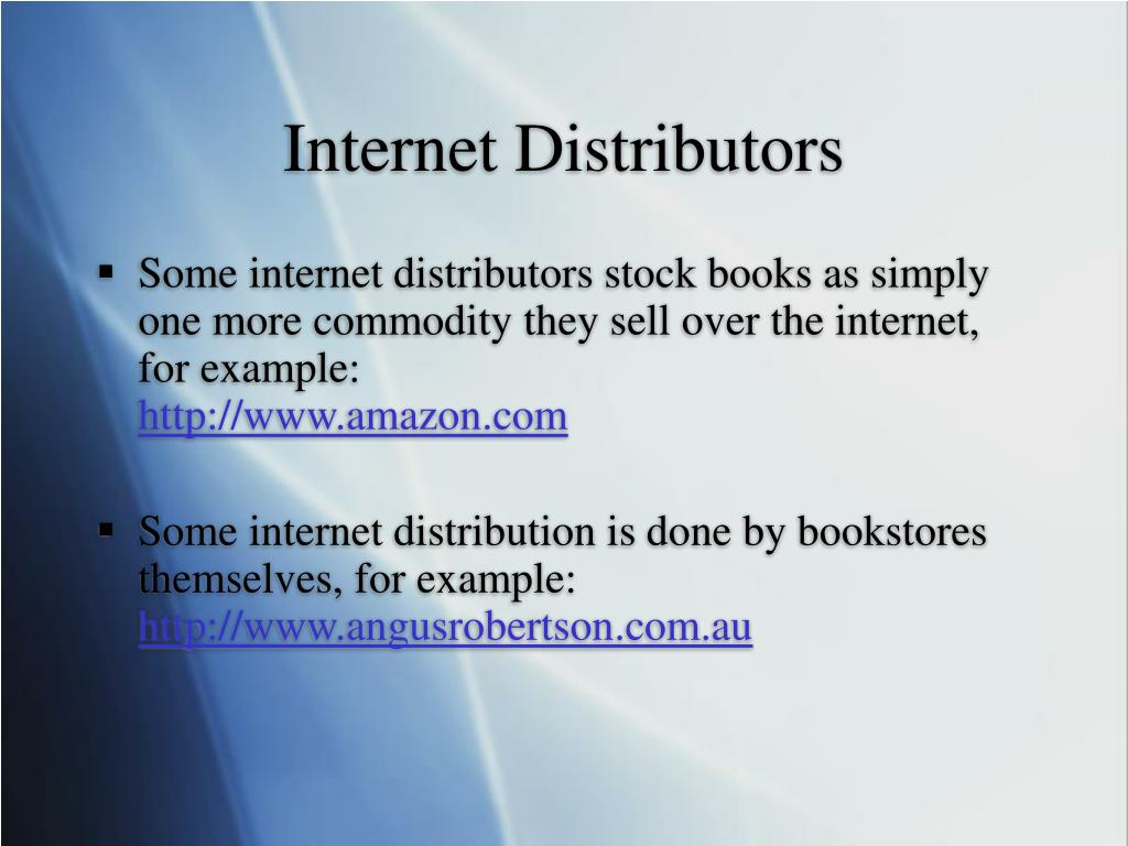 Internet Distributors