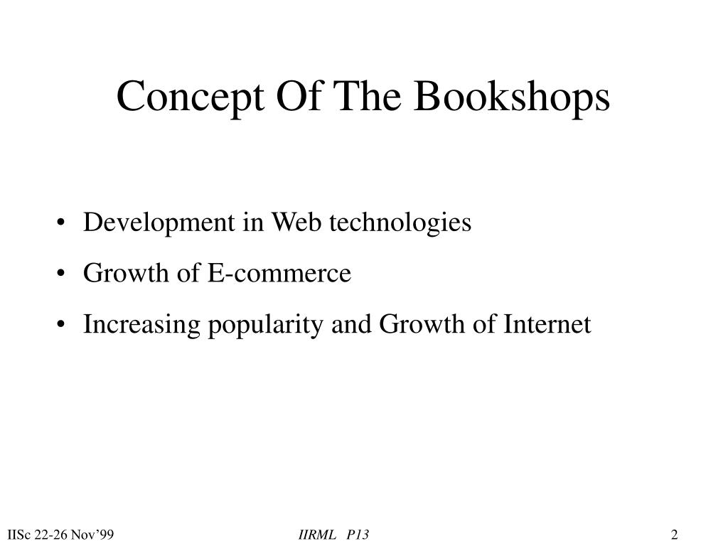 Concept Of The Bookshops