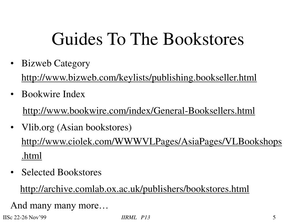Guides To The Bookstores