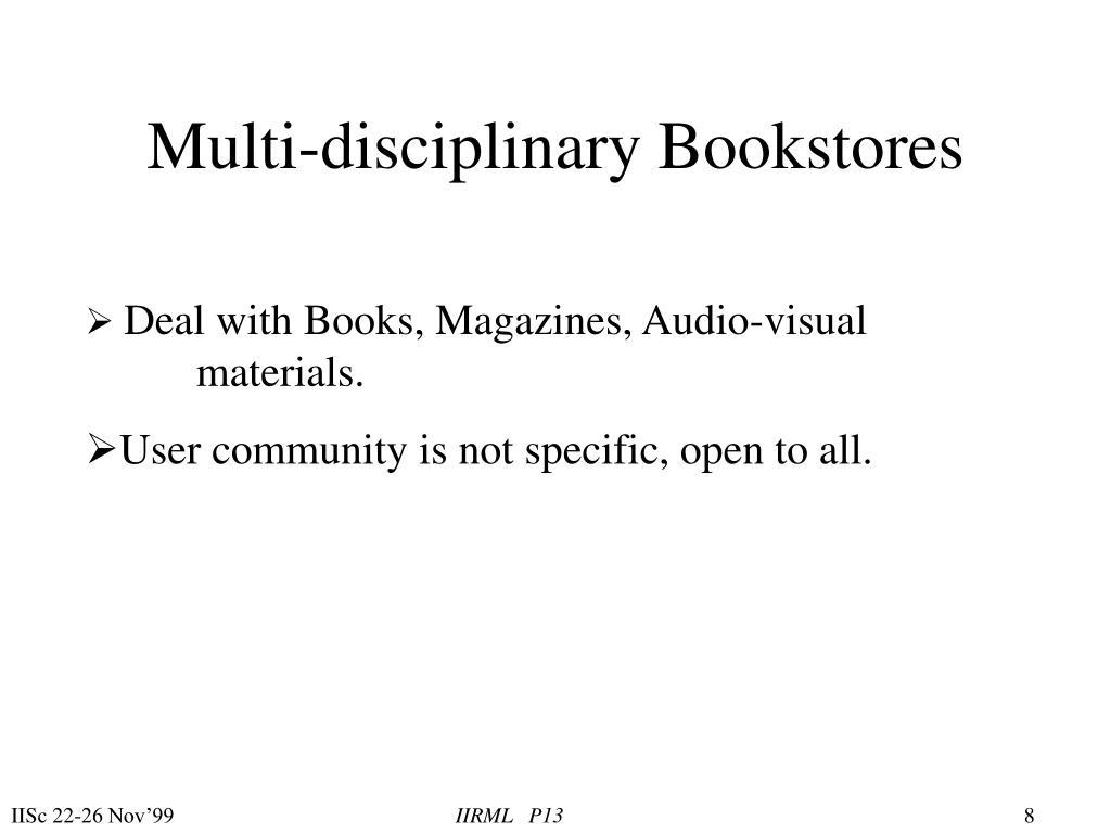Multi-disciplinary Bookstores
