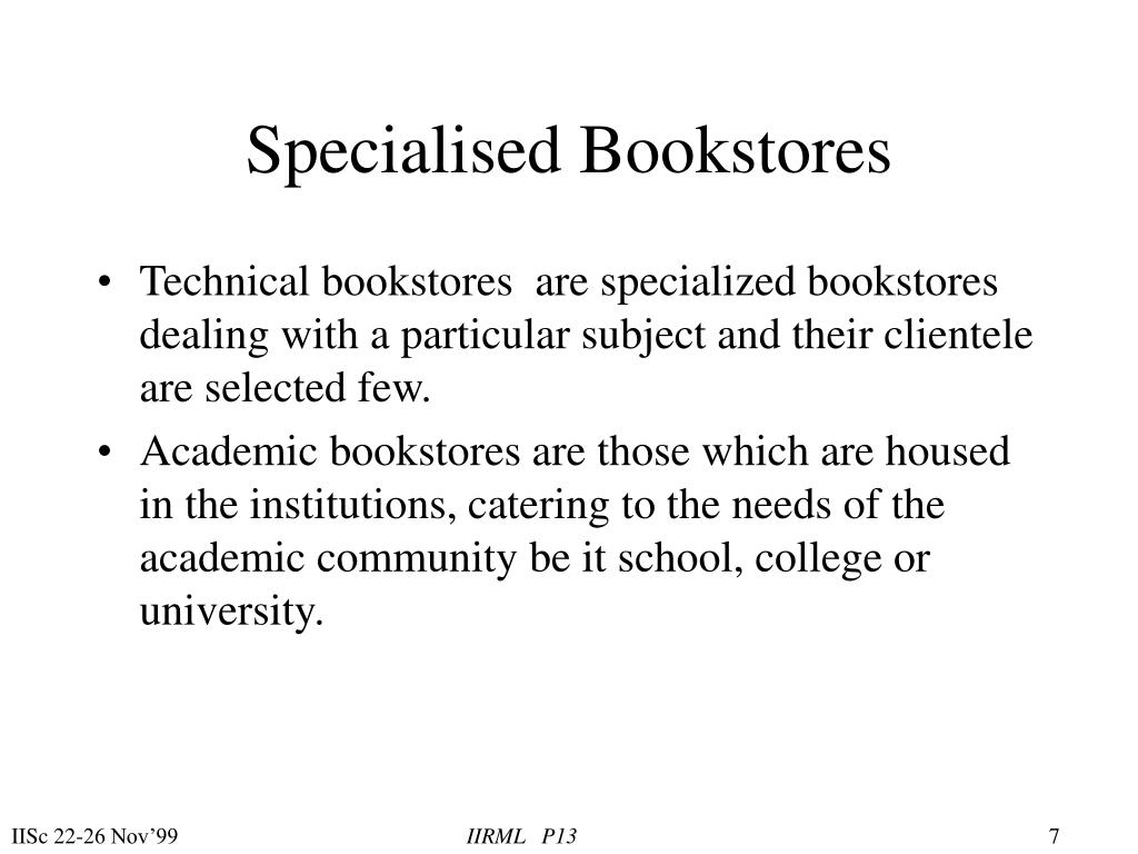 Specialised Bookstores
