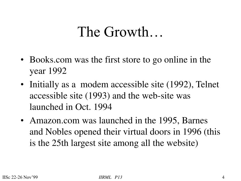 The Growth…