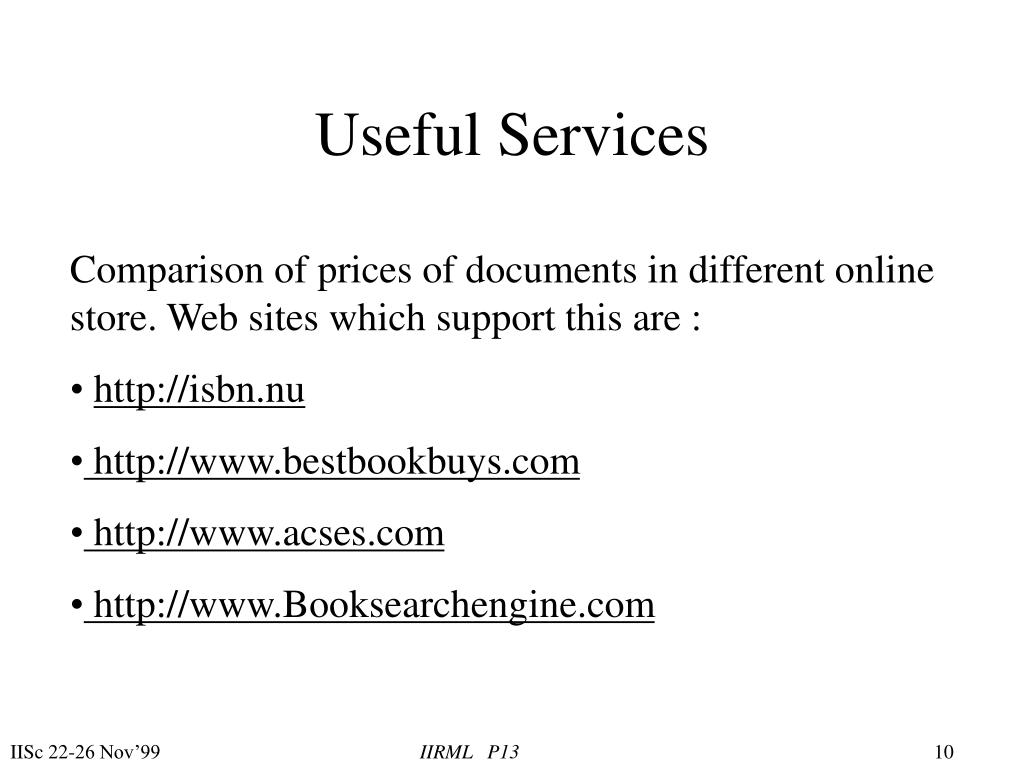 Useful Services