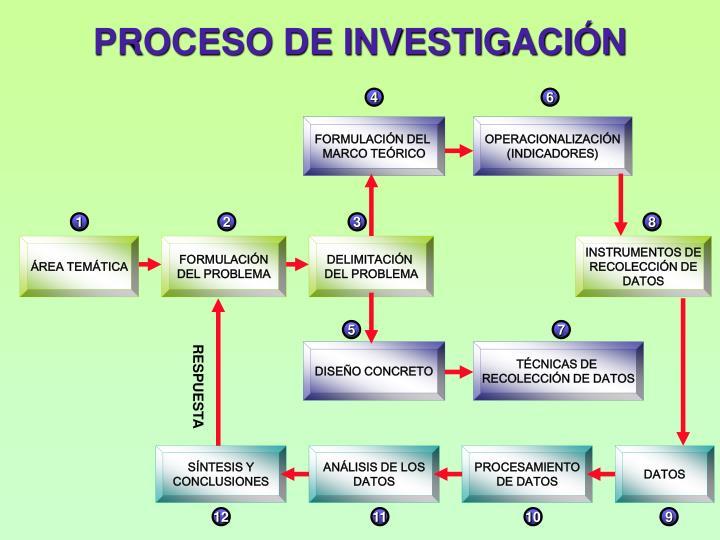 PROCESO DE INVESTIGACIN