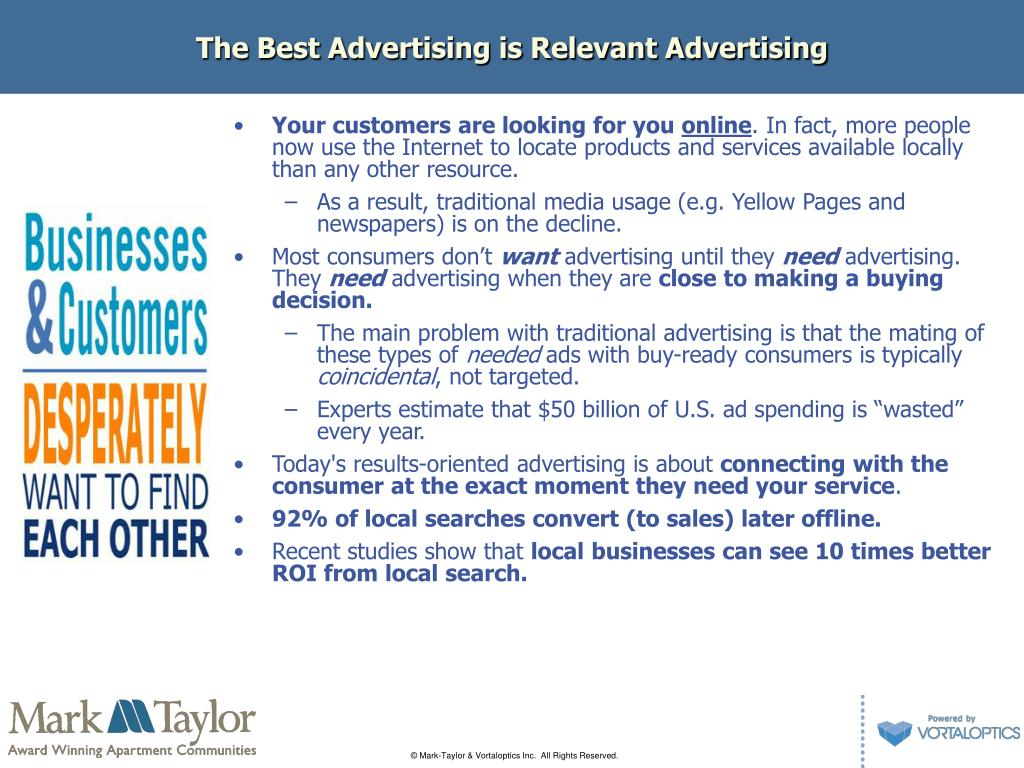 The Best Advertising is Relevant Advertising