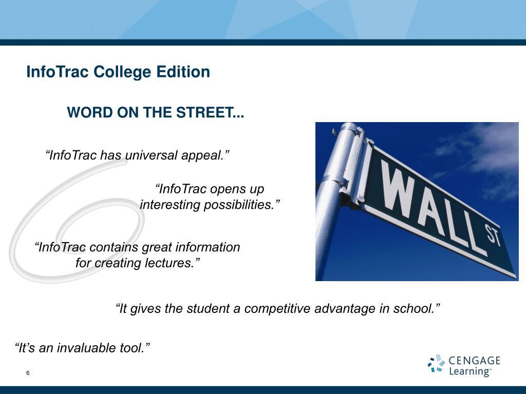 InfoTrac College Edition