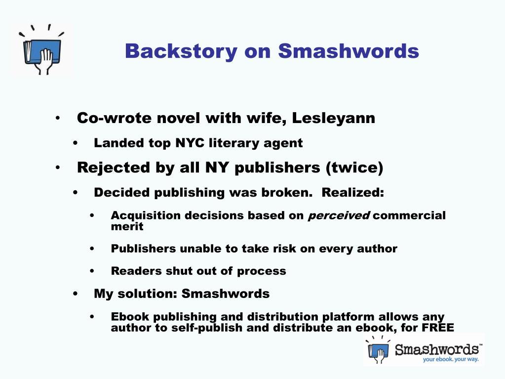 Backstory on Smashwords