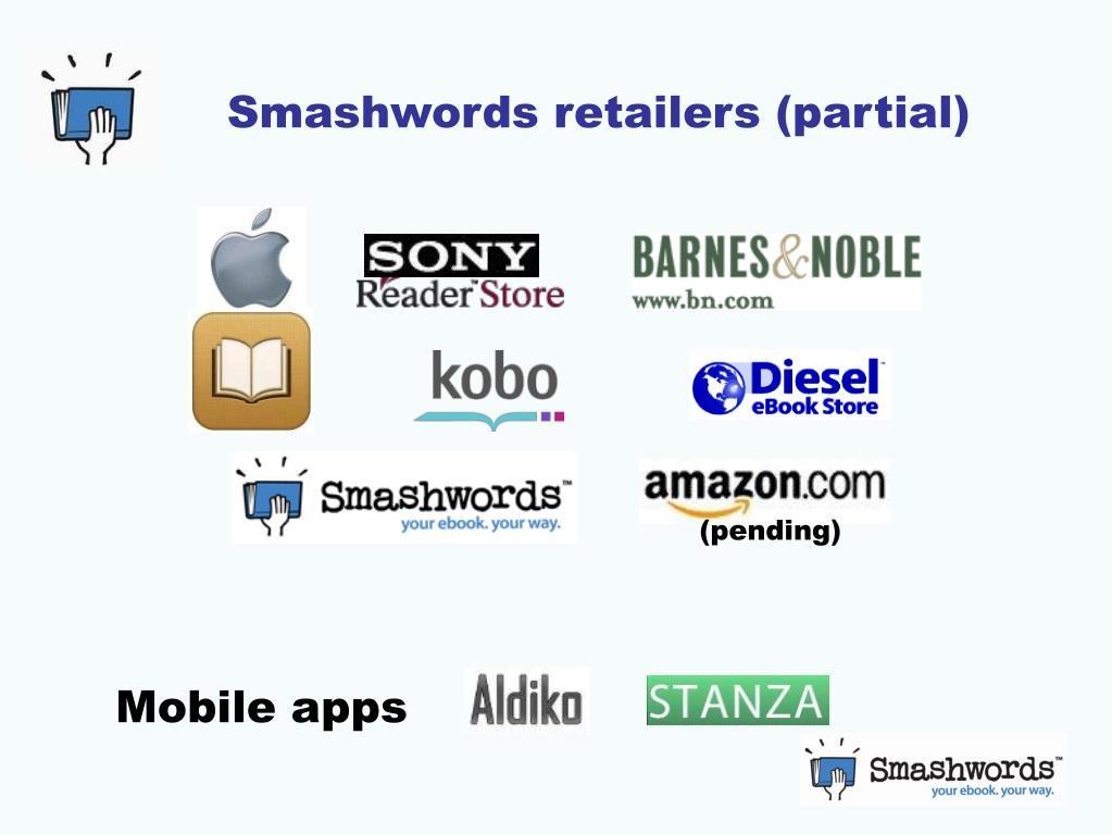 Smashwords retailers (partial)
