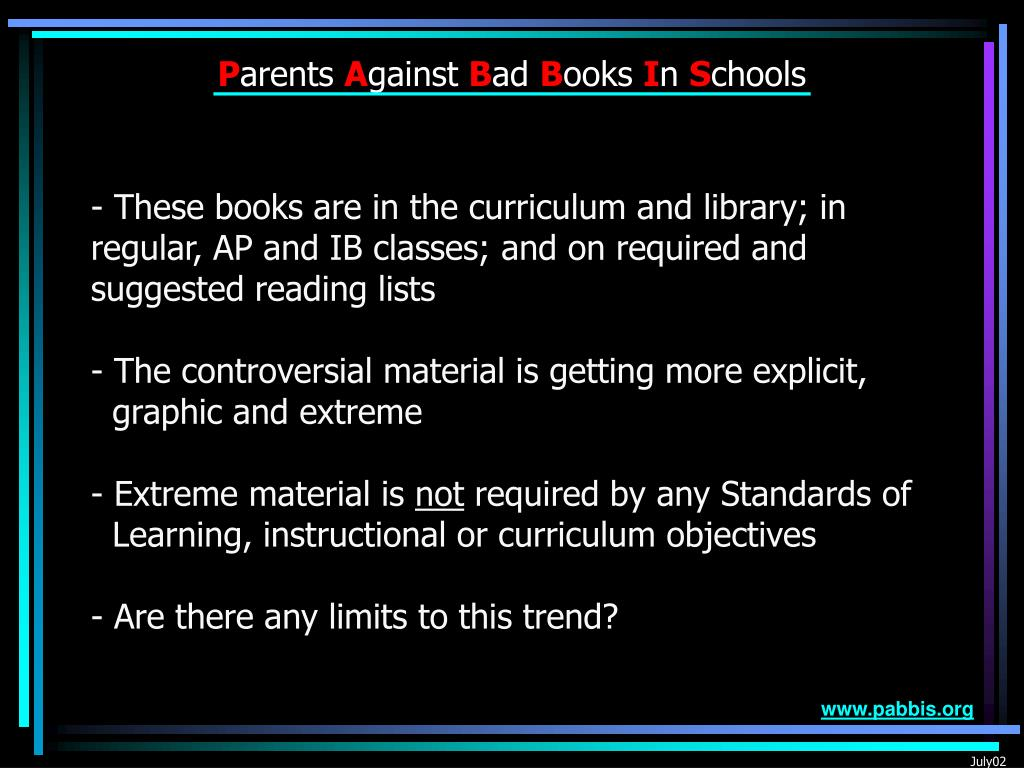 These books are in the curriculum and library; in regular, AP and IB classes; and on required and suggested reading lists