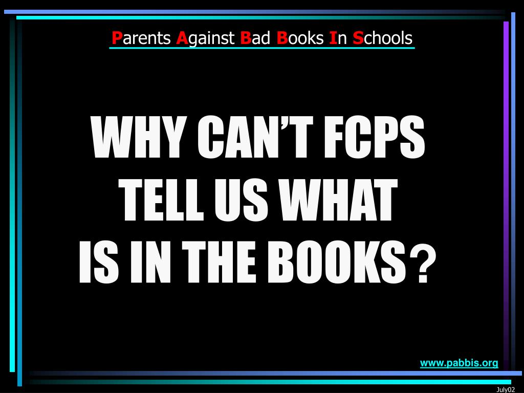 WHY CAN'T FCPS
