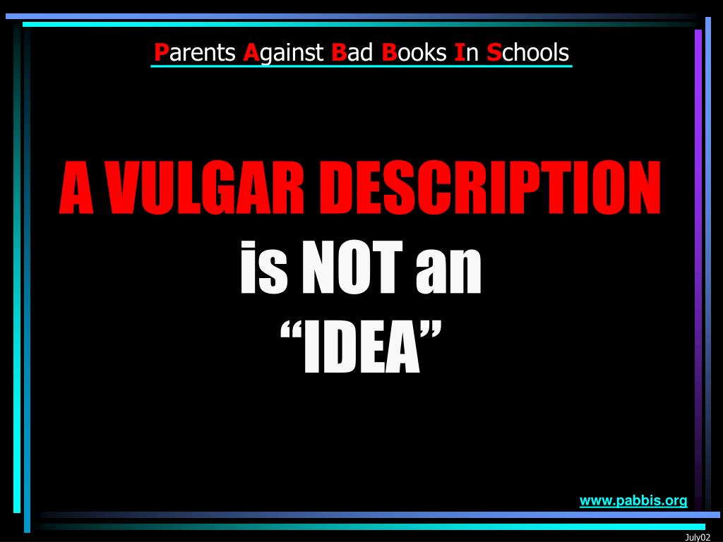 A VULGAR DESCRIPTION