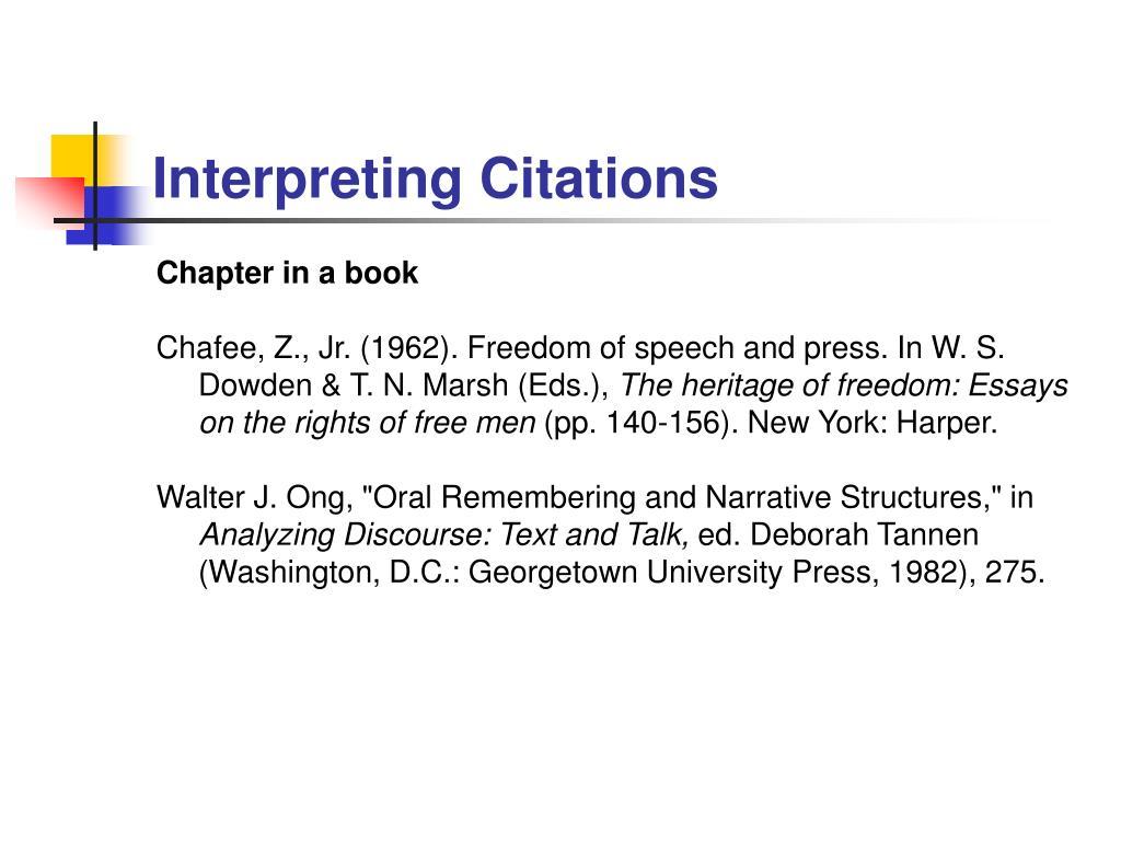Interpreting Citations