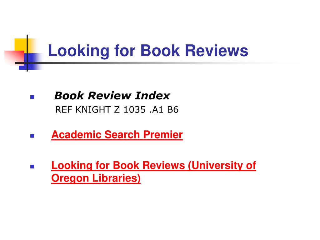 Looking for Book Reviews