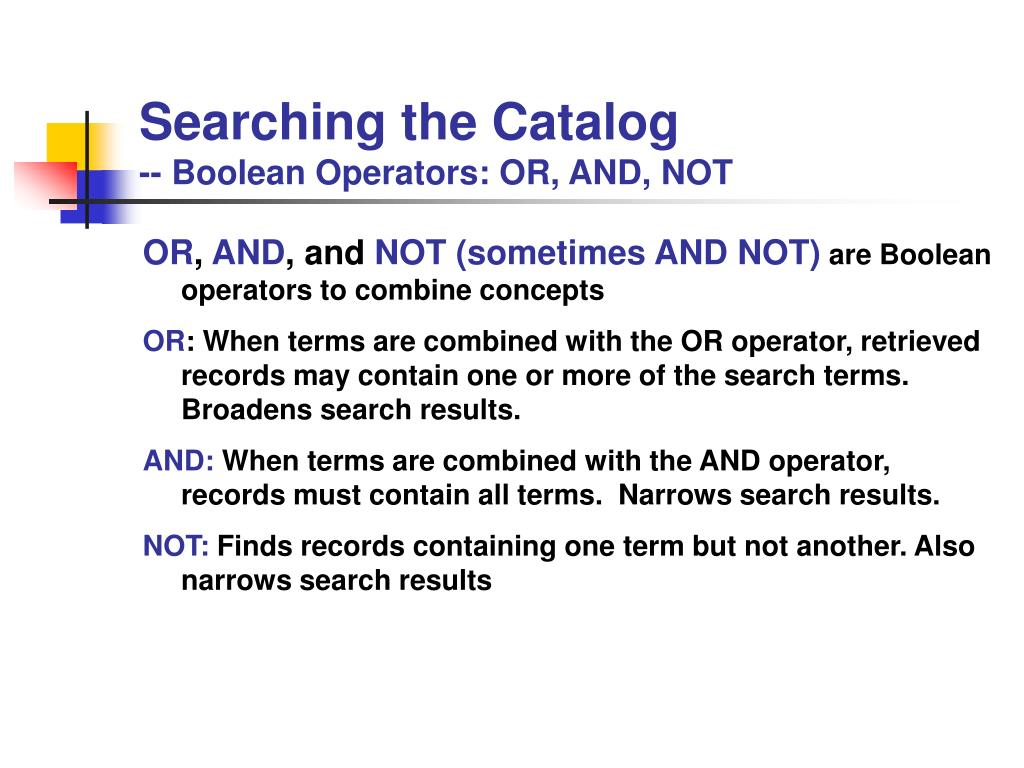 Searching the Catalog