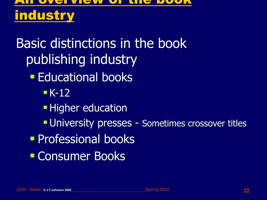 An overview of the book industry