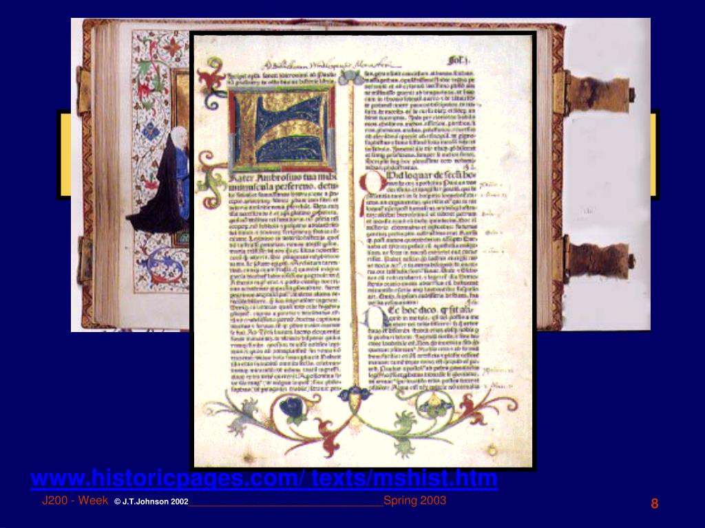 Illuminated MSS page