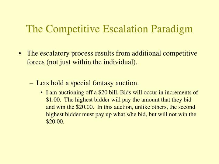 The Competitive Escalation Paradigm