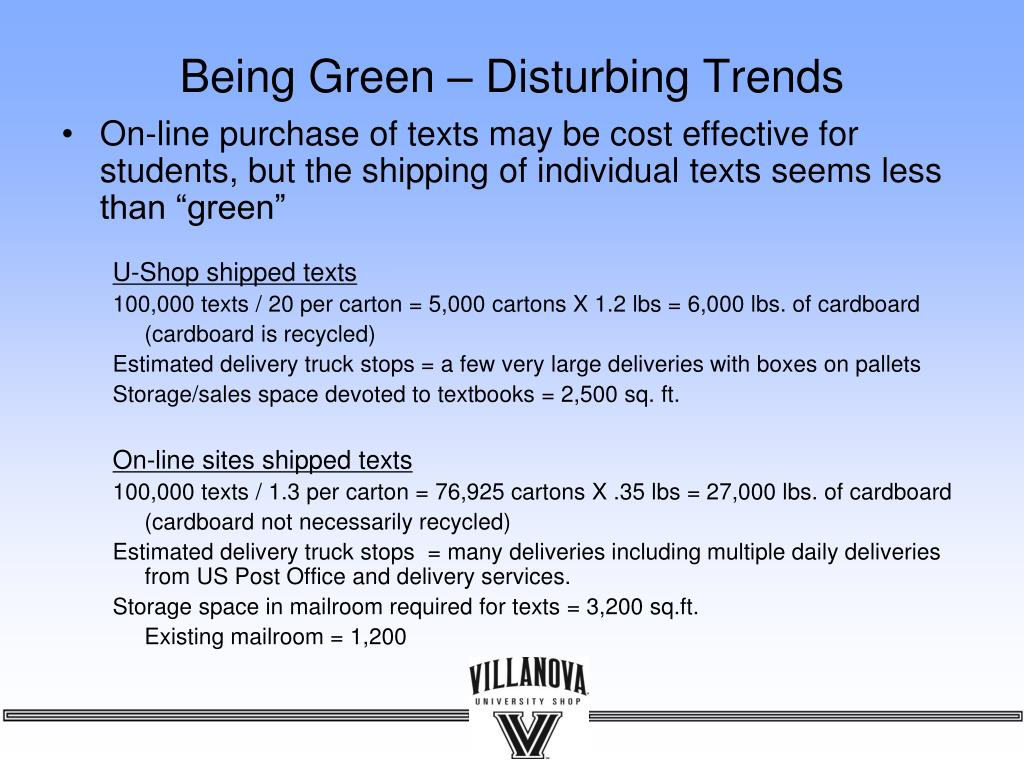 Being Green – Disturbing Trends